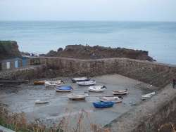 Port Racine dans la Manche, plus petit port de France