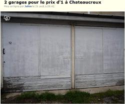 Mon annonce leboncoin pour la vente de ma batterie de garages