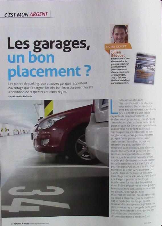 Les garages un bon placement ?