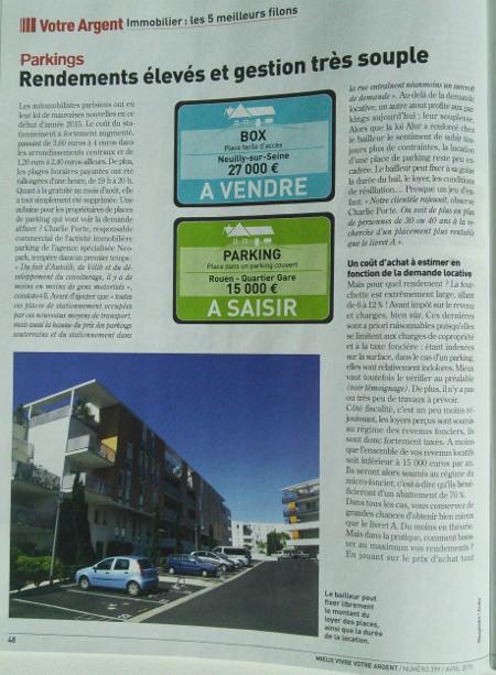 Mieux vivre votre argent : interview julien bedouet parkinggarage.fr